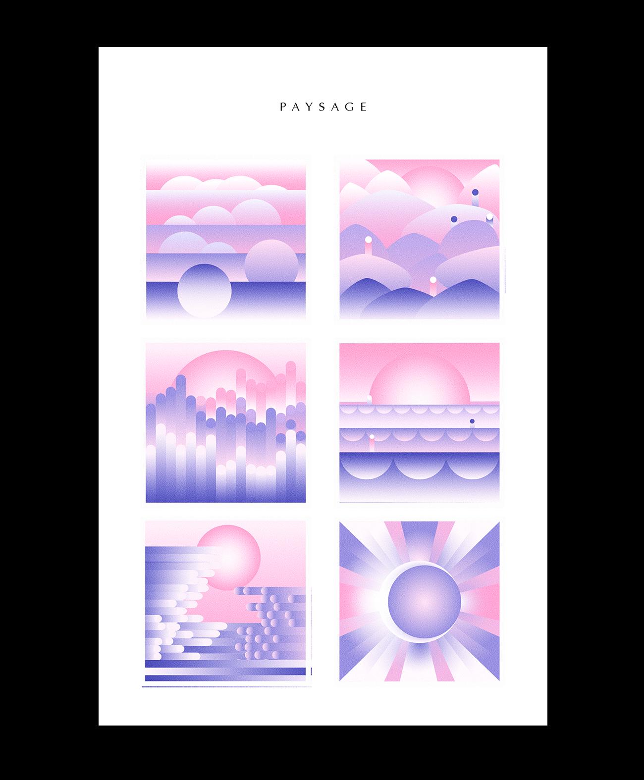 Riso Illustration paysage