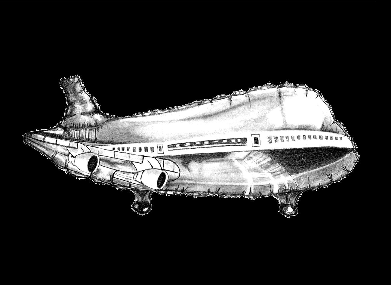 Recto Verso illustration avion ballon