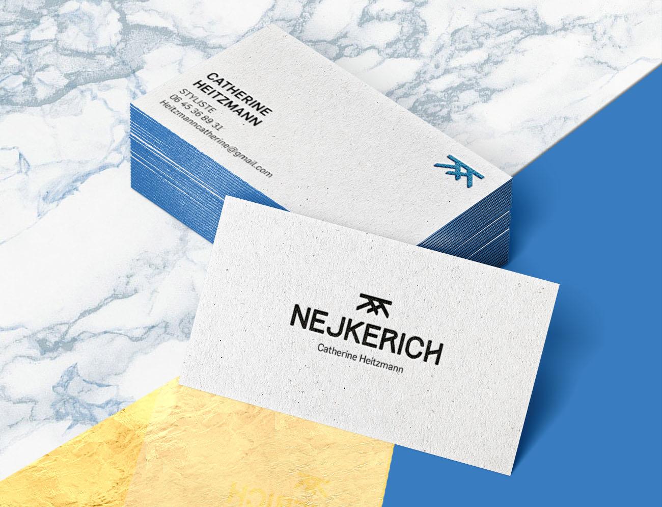 Identité visuelle Nejkerich carte de visite